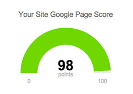 Integrated Google PageSpeed Score